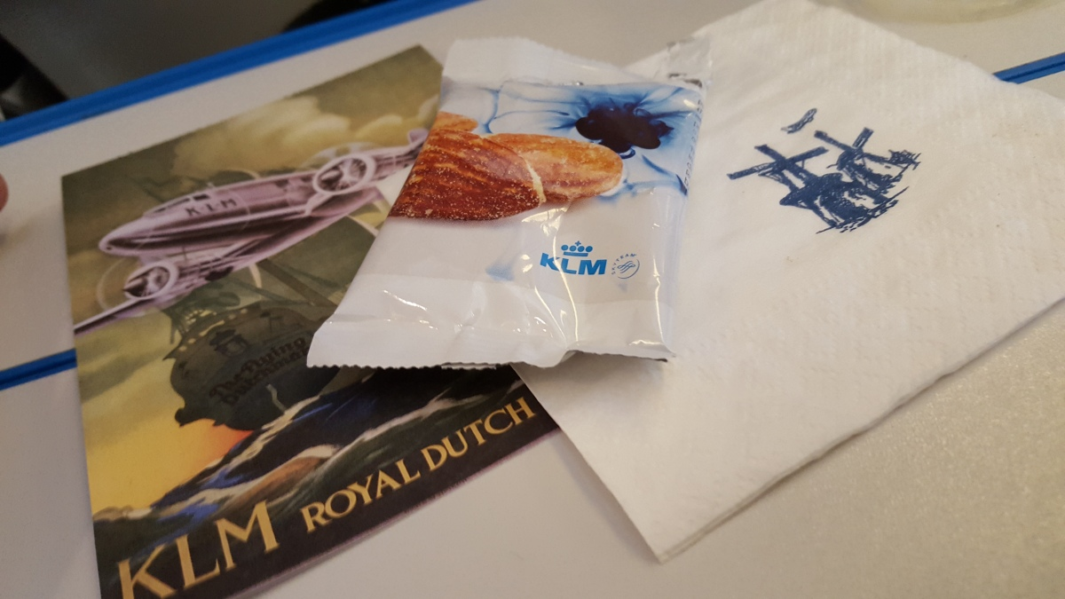 Brazilian menu at KLM flights: Sao Paulo - Amsterdam
